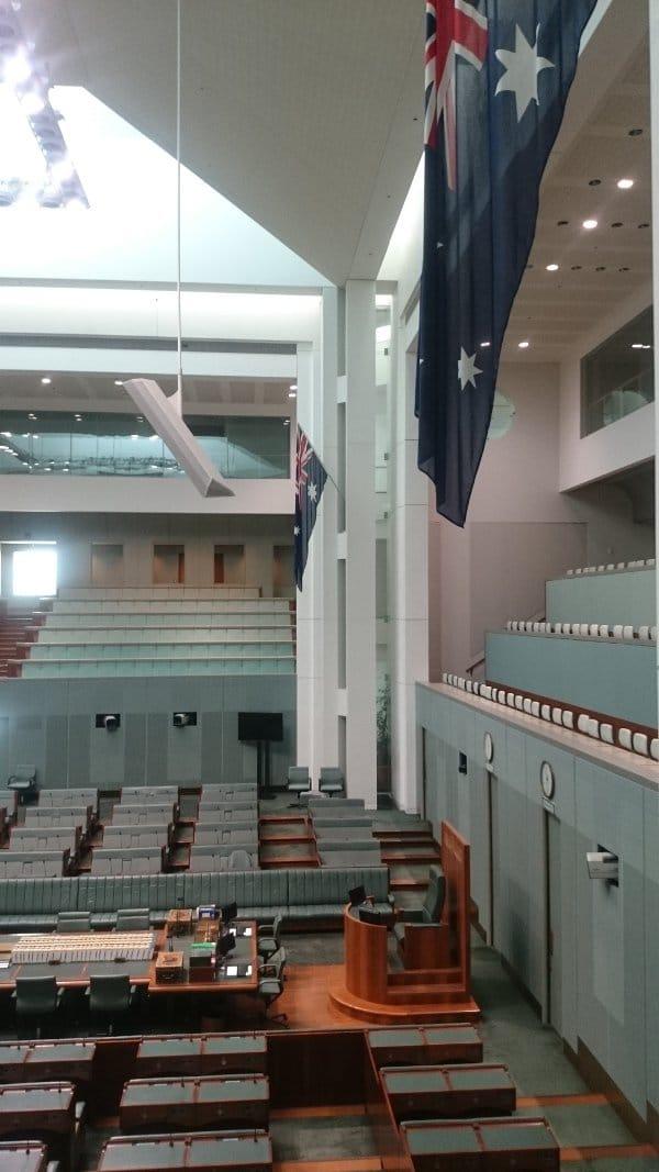 Parlamento que visitar en canberra australia