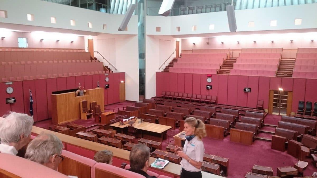 sala del senado en Canberra capital de Australia