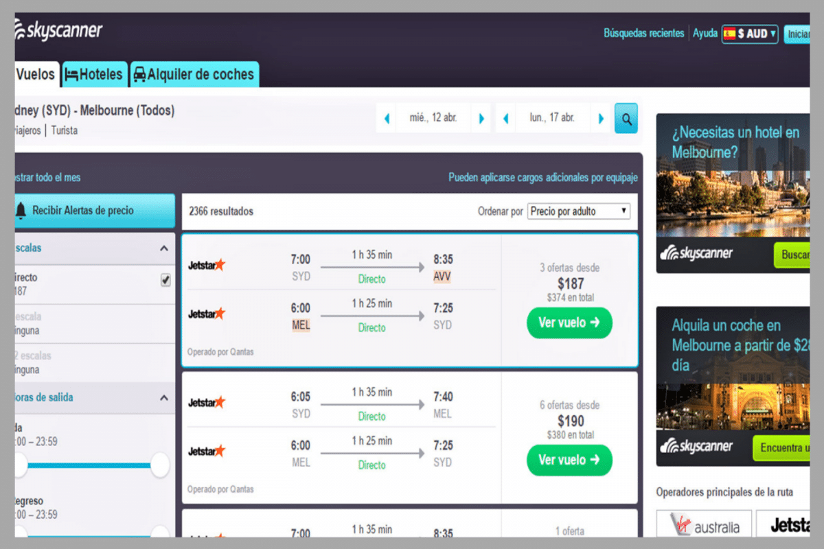 skyscanner mes completo