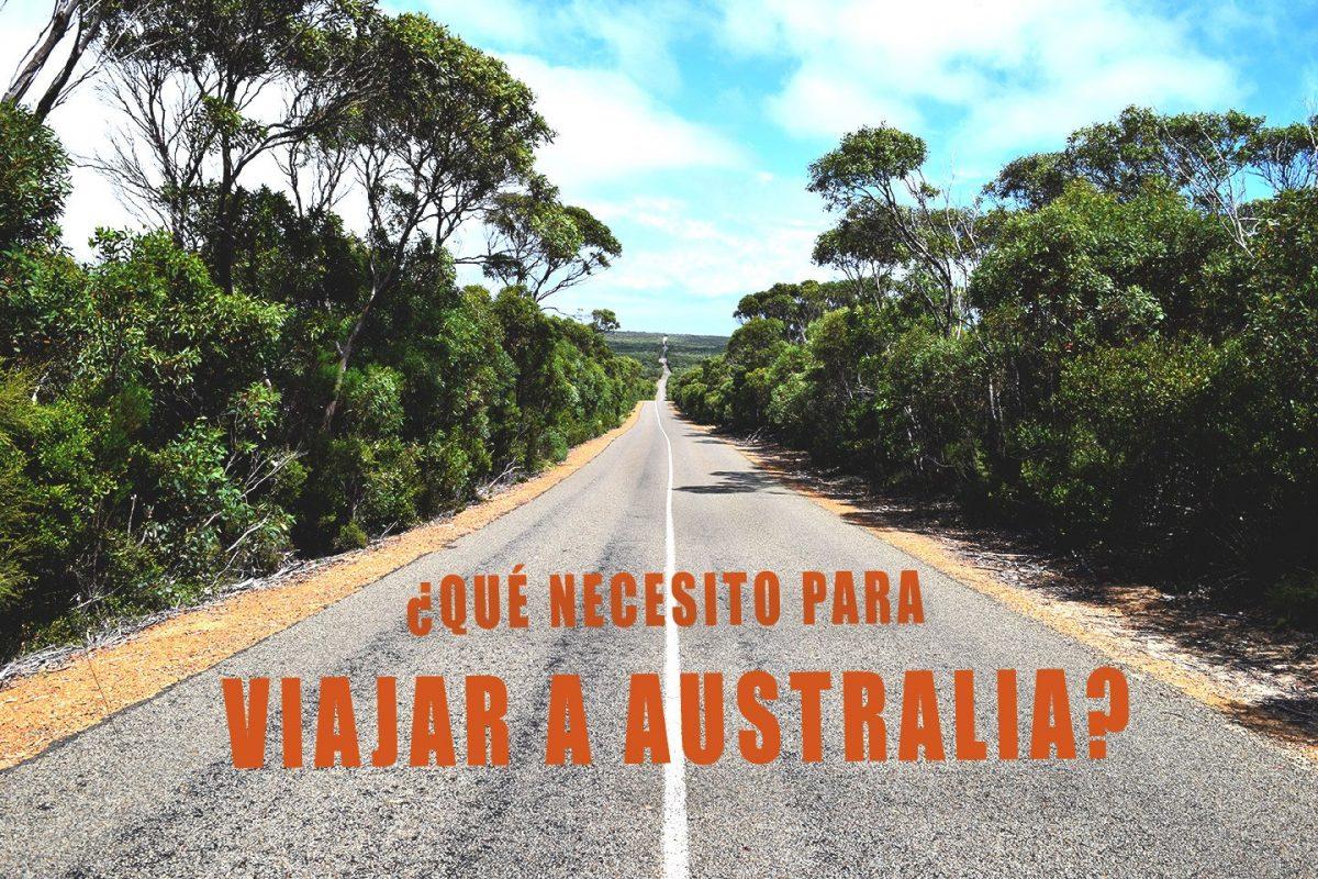 Que necesito para viajar a australia