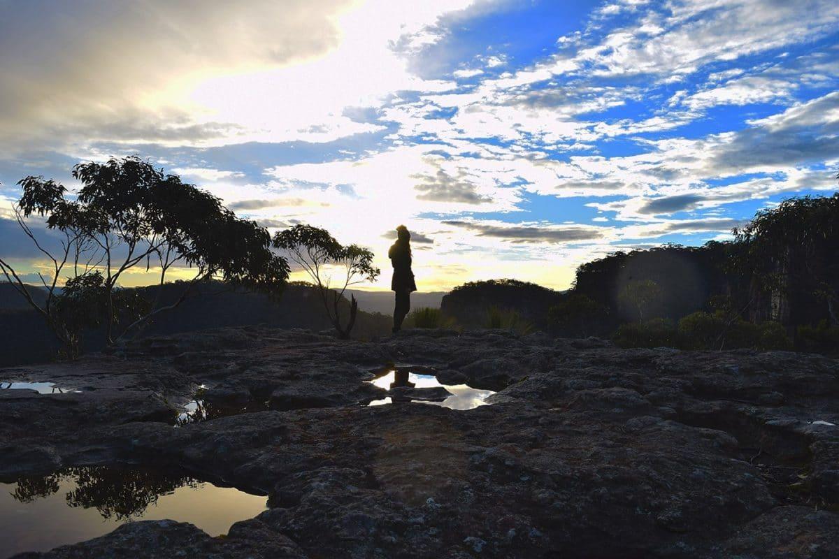 Sunset rock lookout Blue Mountains NSW Australia