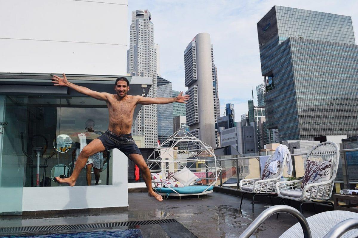 piscina azotea hotel fragance riverside singapur