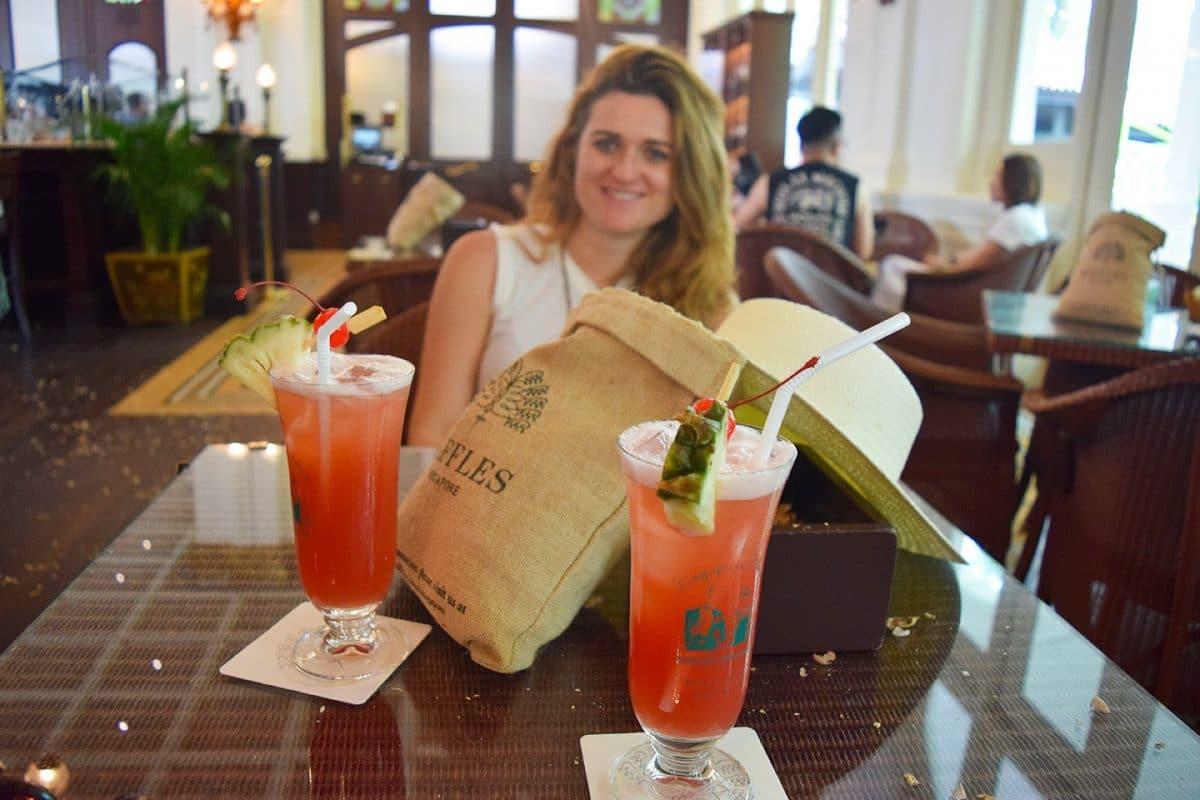 Que hacer en Singapur: Singapur Sling en Raffles Hotel