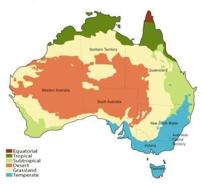 cómo es Australia. Climas
