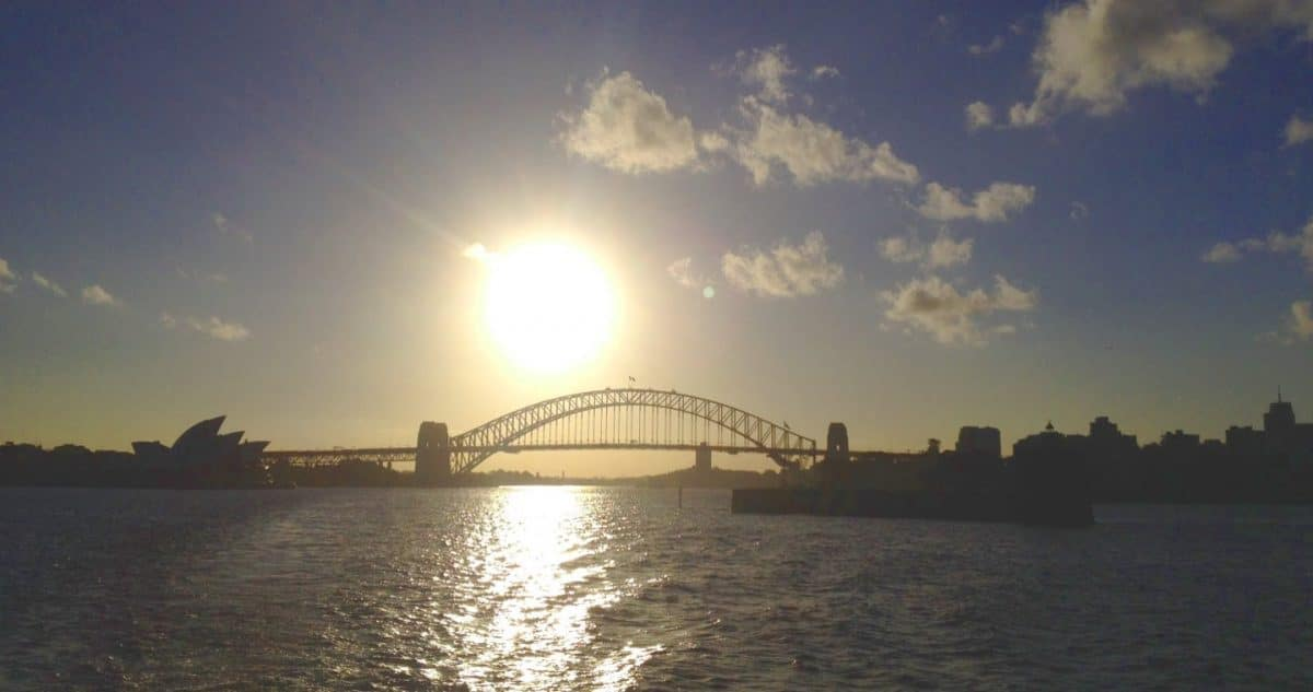 Foto de la Bahía de Sydney desde el Ferry