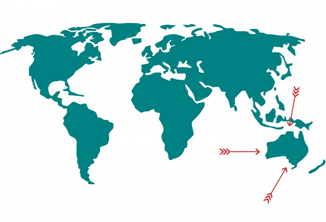 Donde Se encuentra Australia en el mapa