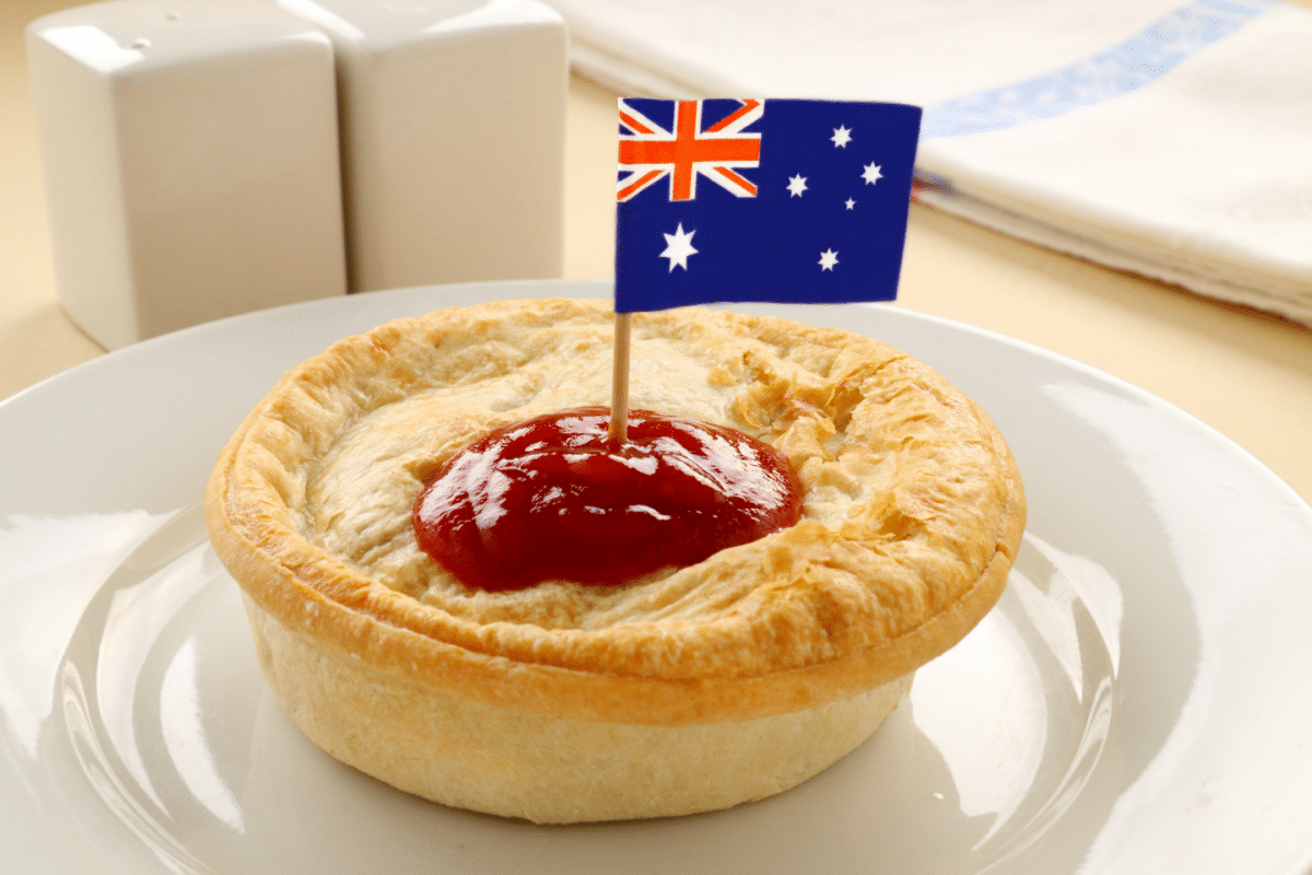 Meat Pie. Australia comida típica