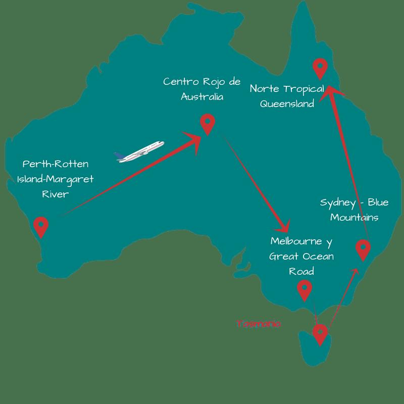 Ruta de verano 1 mes por Australia