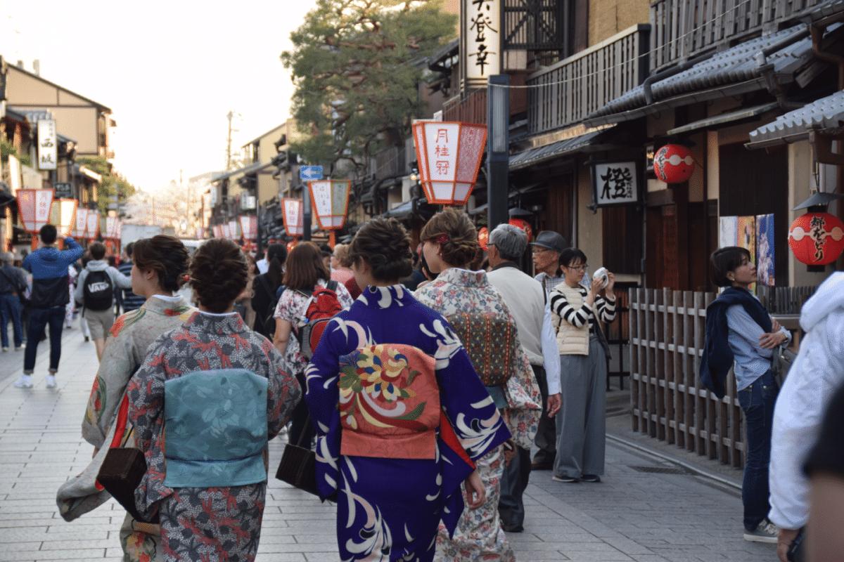 Barrio de Gion en Kioto, Japon