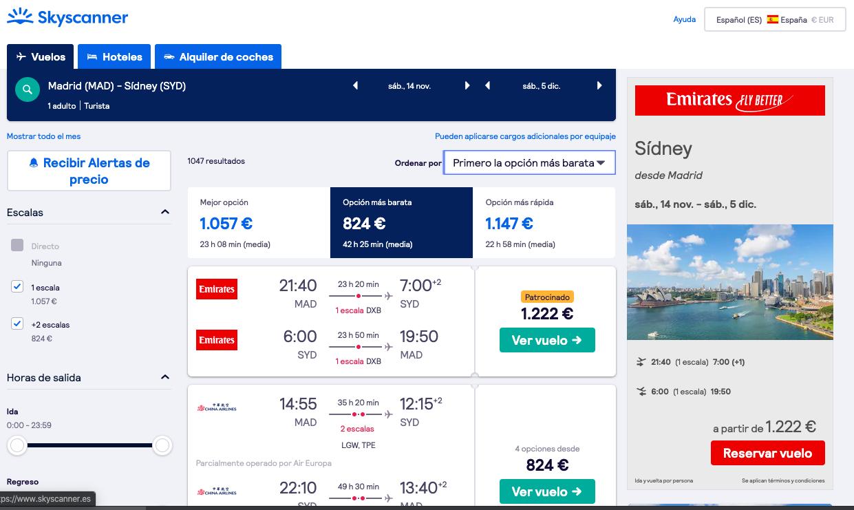 Explorar vuelos baratos