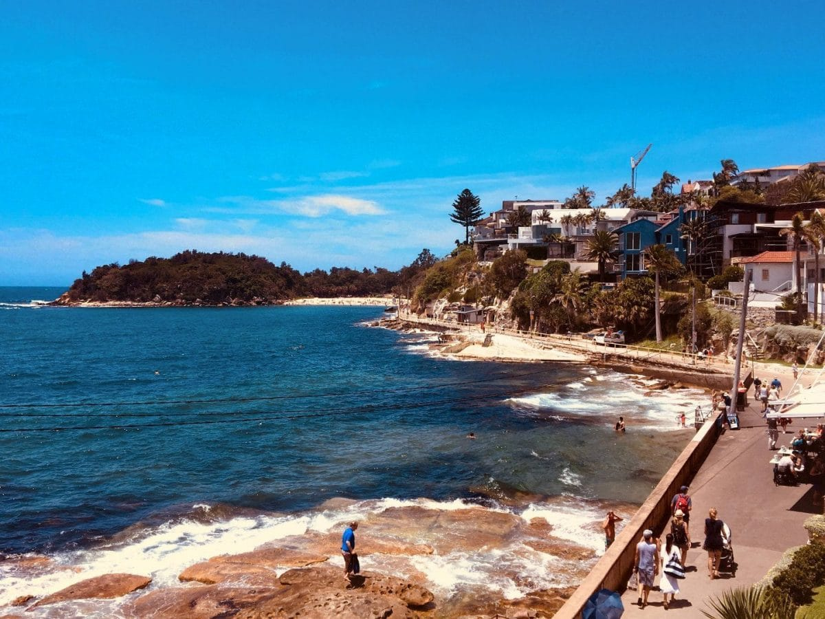 playas de Sydney Shelly Beach