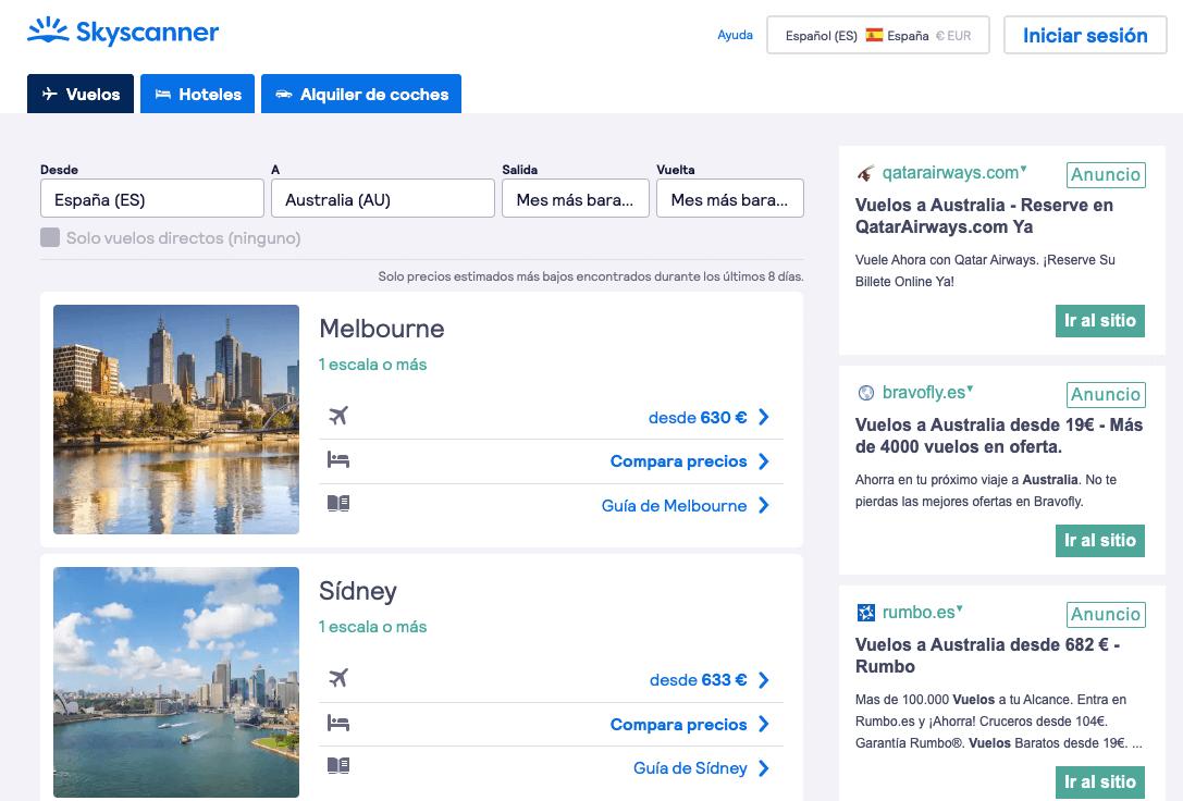 Viajar barato Australia