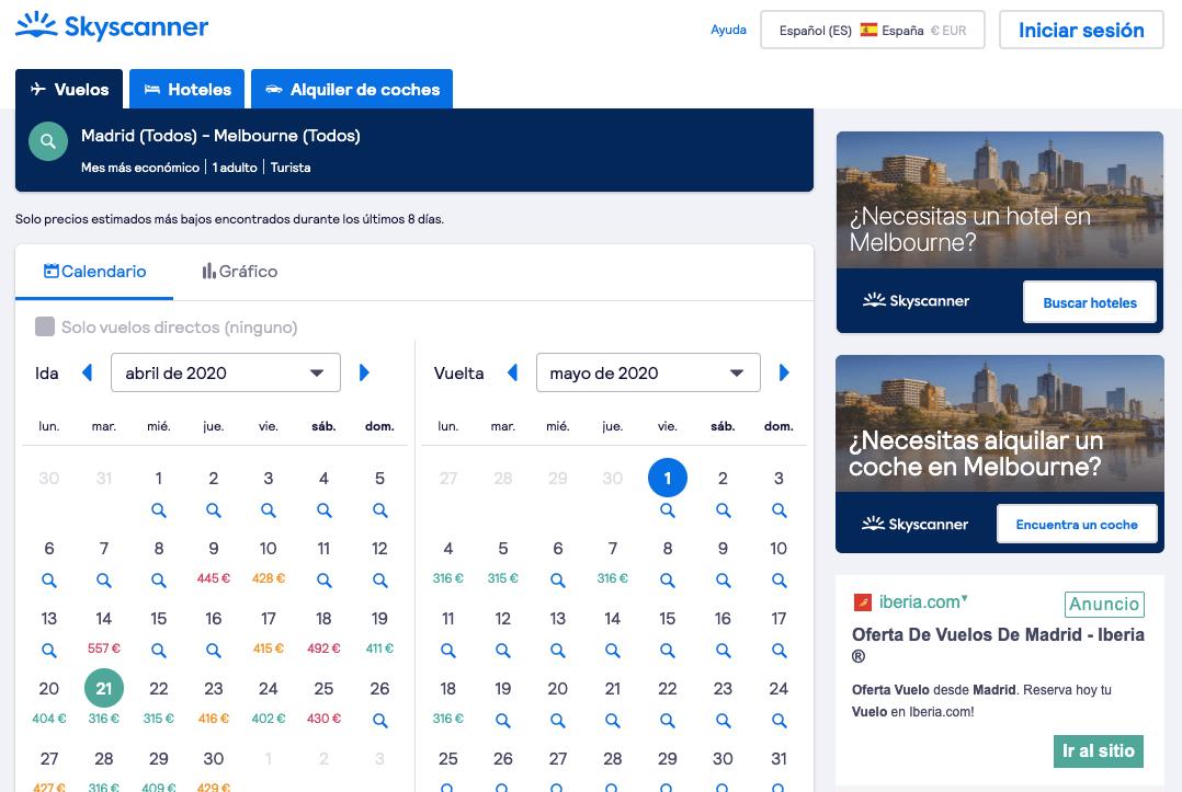 Epoca más barata para viajar a australia