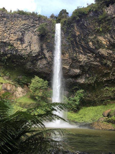 Bridal veil falls norte de nueva zelanda