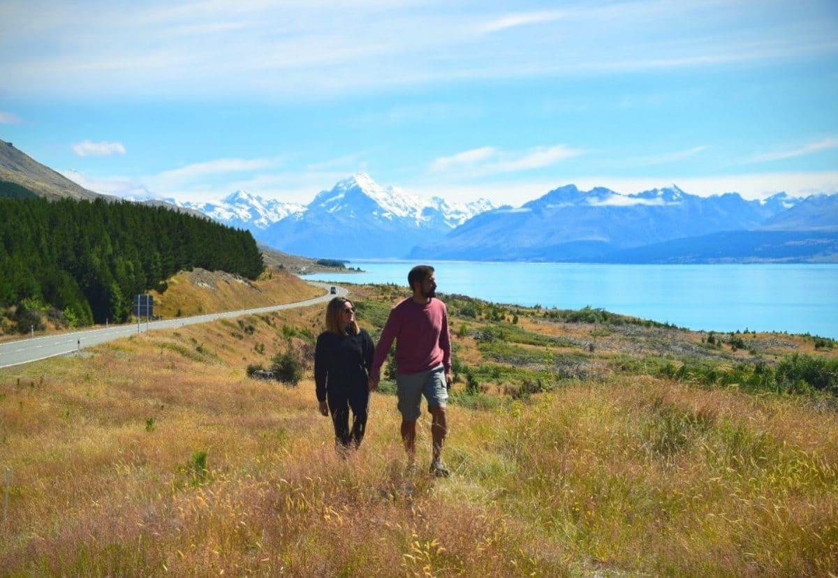 Peter Lookout lago Pukaki isla sur NZ