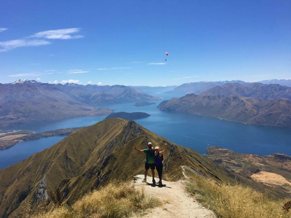 Roys Peak Track senderimo Isla Sur Nueva Zelanda